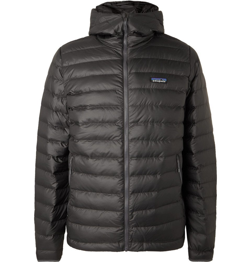 Photo: Patagonia - Quilted DWR-Coated Ripstop Hooded Down Jacket - Anthracite
