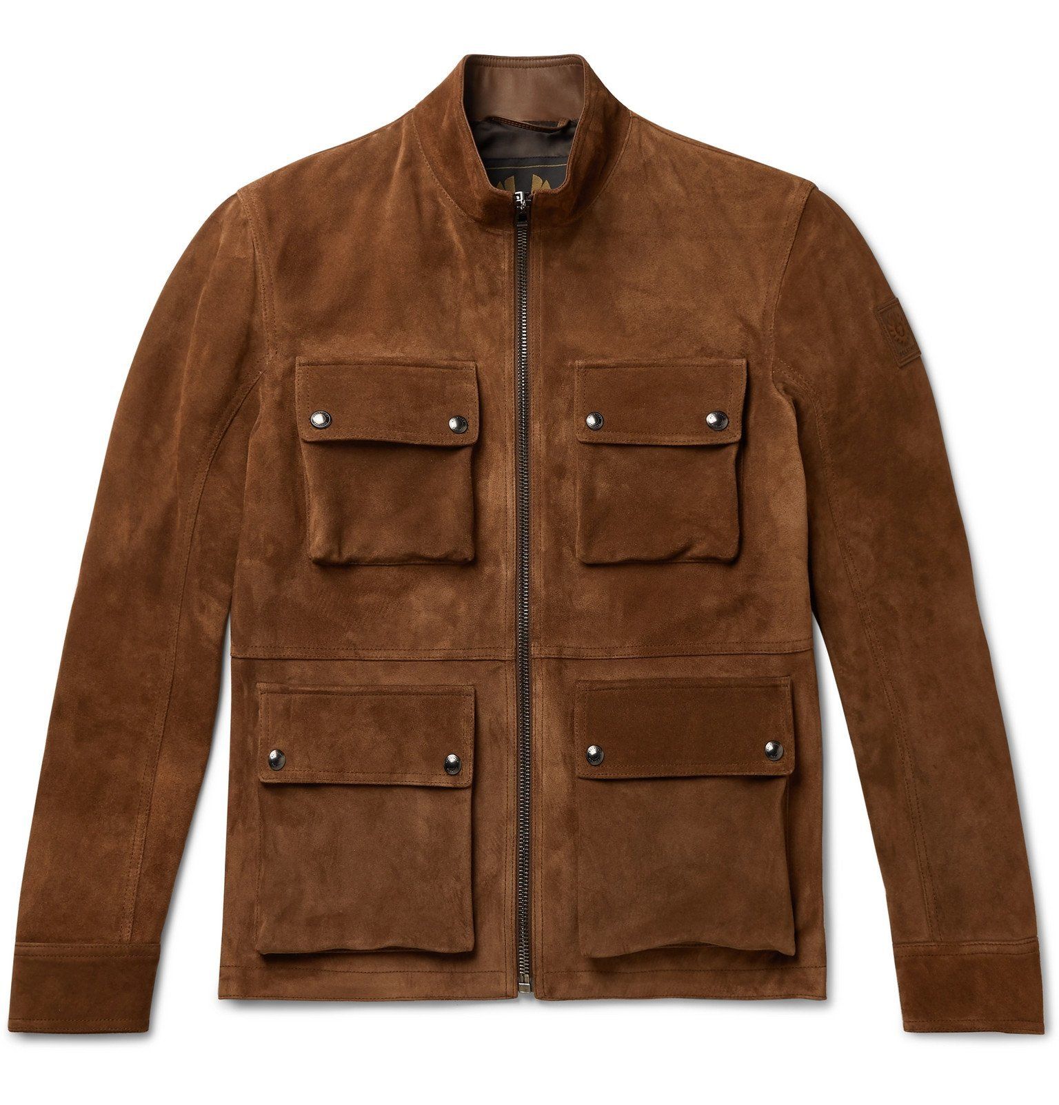 Photo: Belstaff - Brad Suede Jacket - Brown
