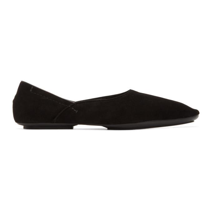 Photo: Haider Ackermann Black Suede Slipper Loafers
