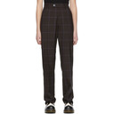 Martine Rose Brown Check Tailored Trousers