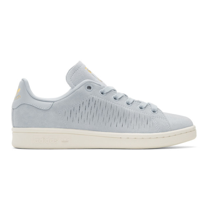 adidas Originals Blue Suede Stan Smith Sneakers