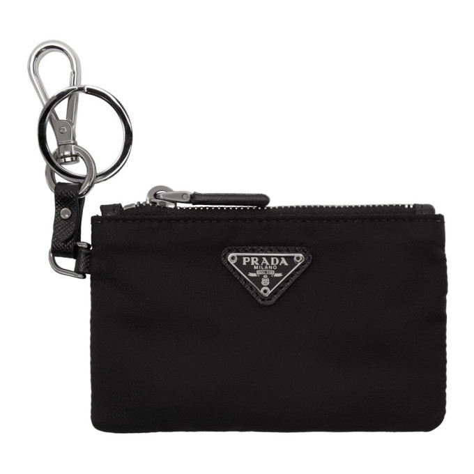 Photo: Prada Black Travel Pouch Keychain