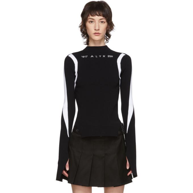 Photo: 1017 ALYX 9SM Black Warp Speed Logo Sweater
