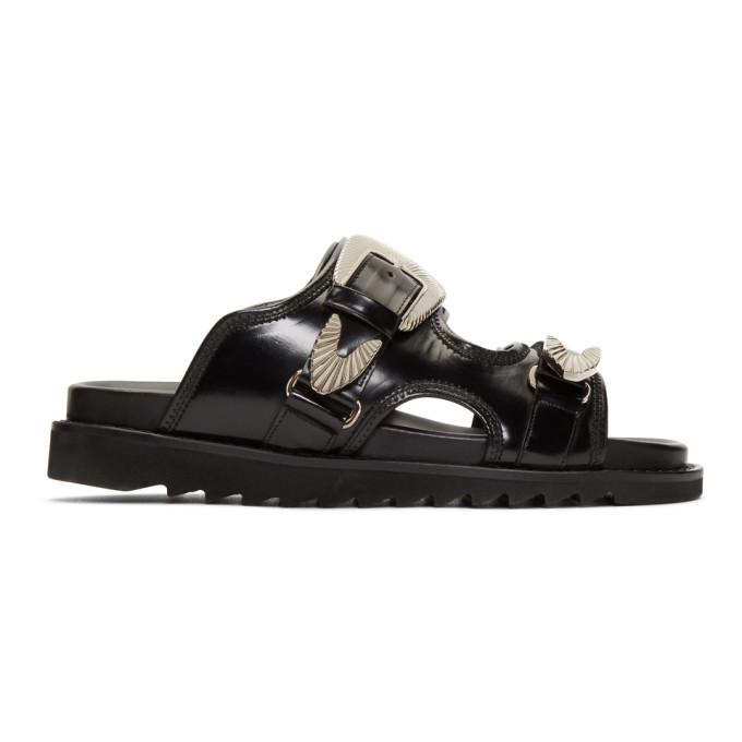 Photo: Toga Virilis Black Polished Sandals