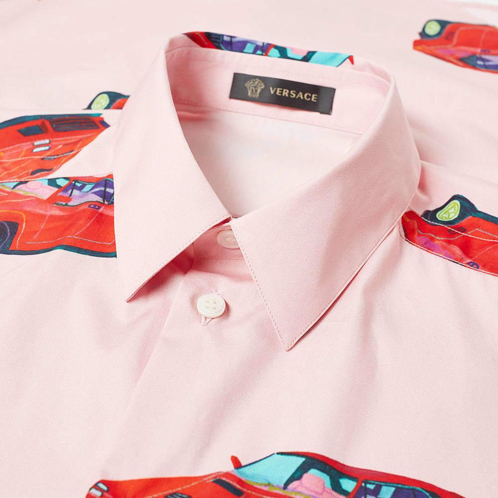 Versace x Andy Dixon Short Sleeve All Over Print Cars Shirt