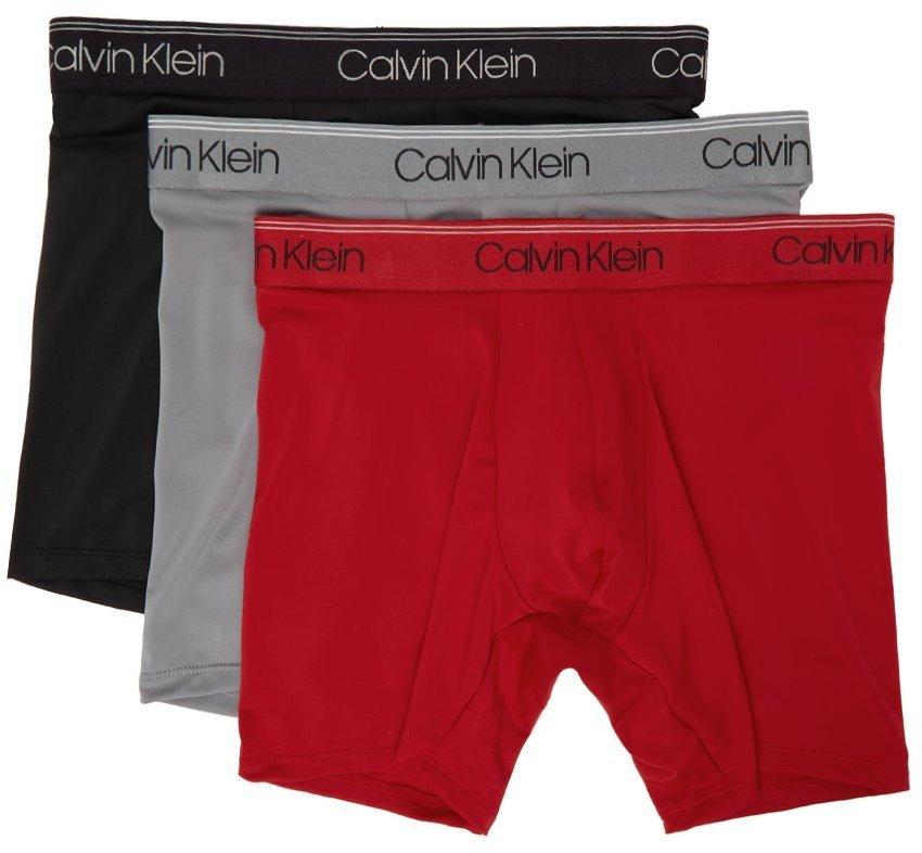 Photo: Calvin Klein Underwear Three-Pack Multicolor Microfiber Stretch Boxers