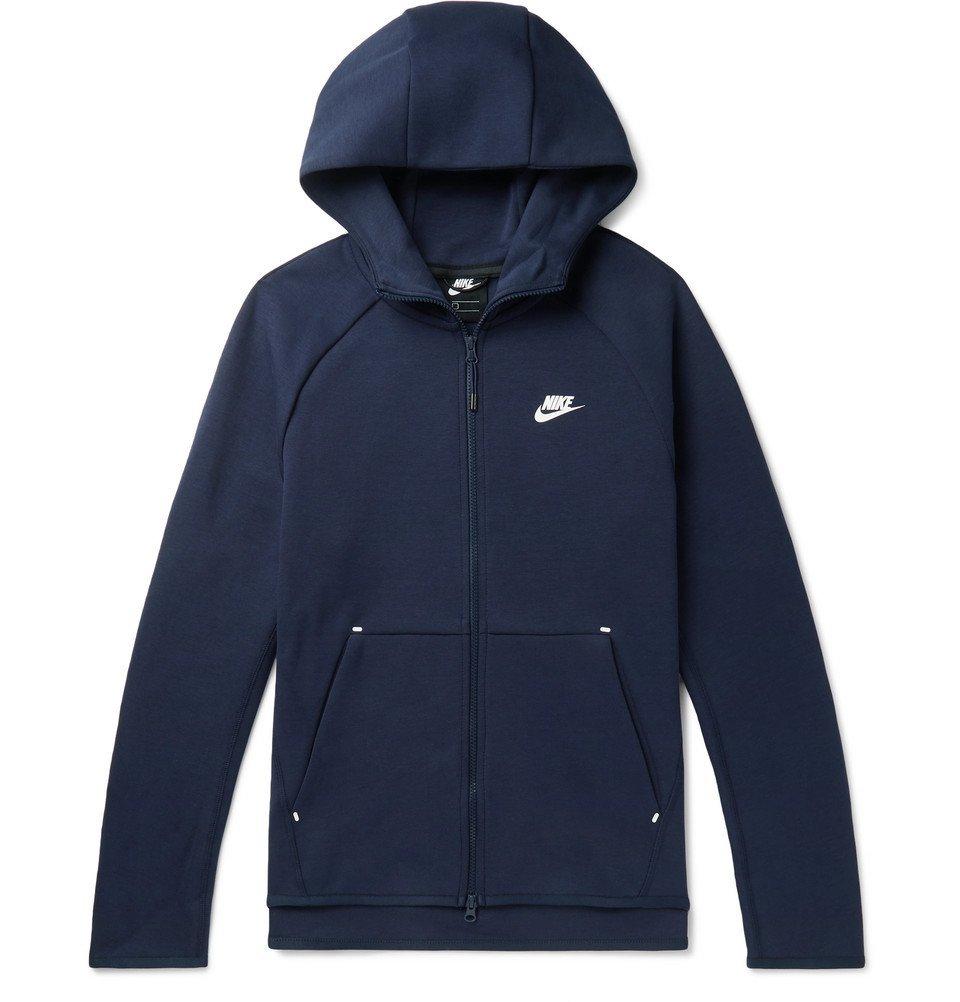 Photo: Nike - Sportswear Cotton-Blend Tech Fleece Zip-Up Hoodie - Men - Navy