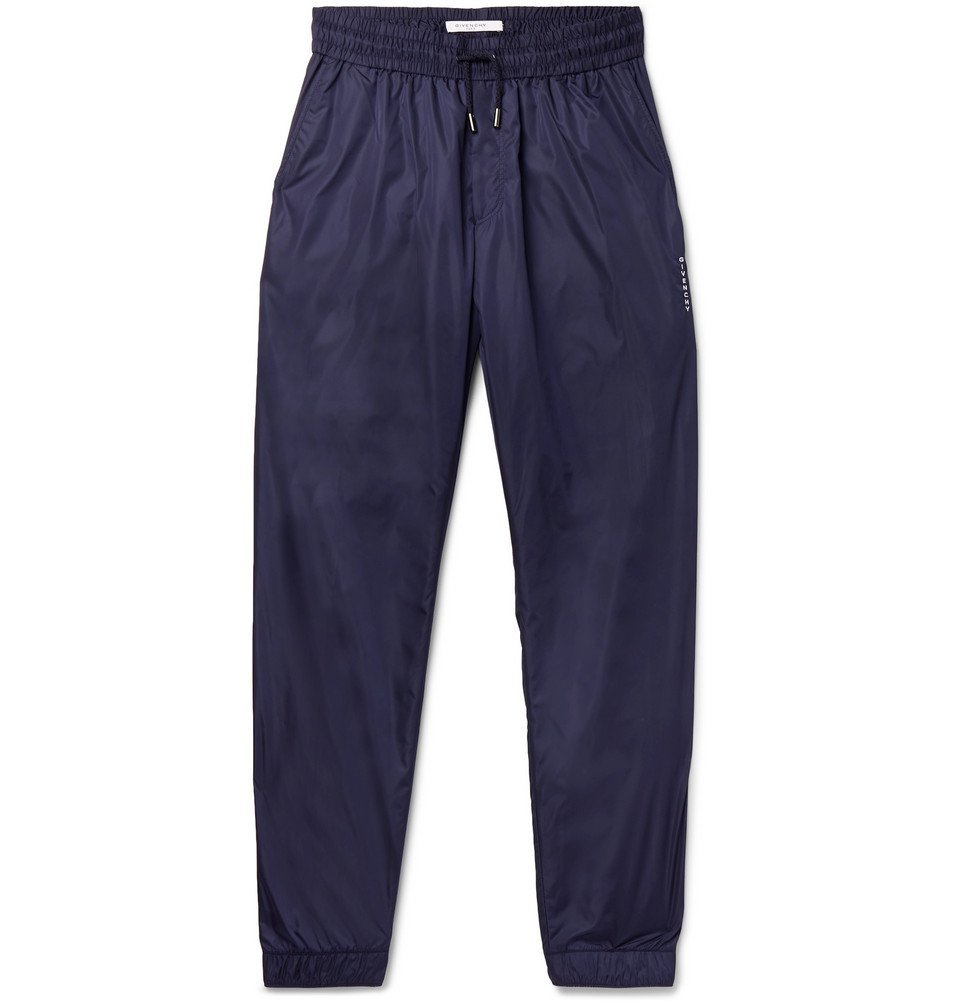 Photo: Givenchy - Slim-Fit Tapered Shell Track Pants - Blue