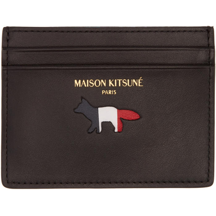 Photo: Maison Kitsuné Black Fox Logo Card Holder