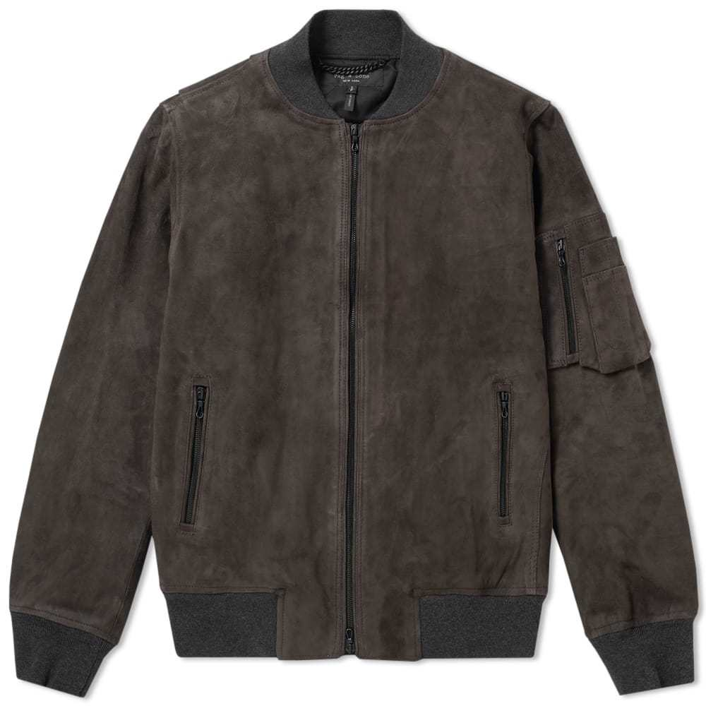 Photo: Rag & Bone Suede Manston Jacket Grey