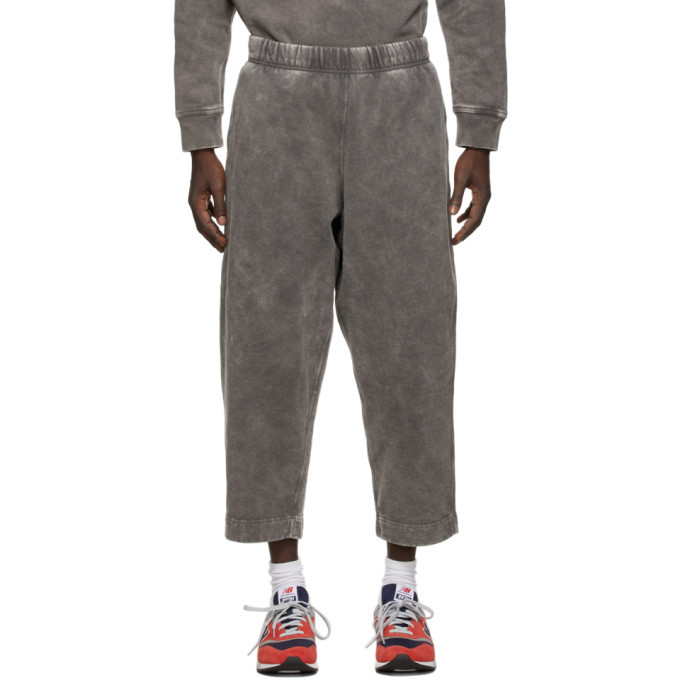 Photo: N.Hoolywood Grey Faded Wide-Lounge Pants