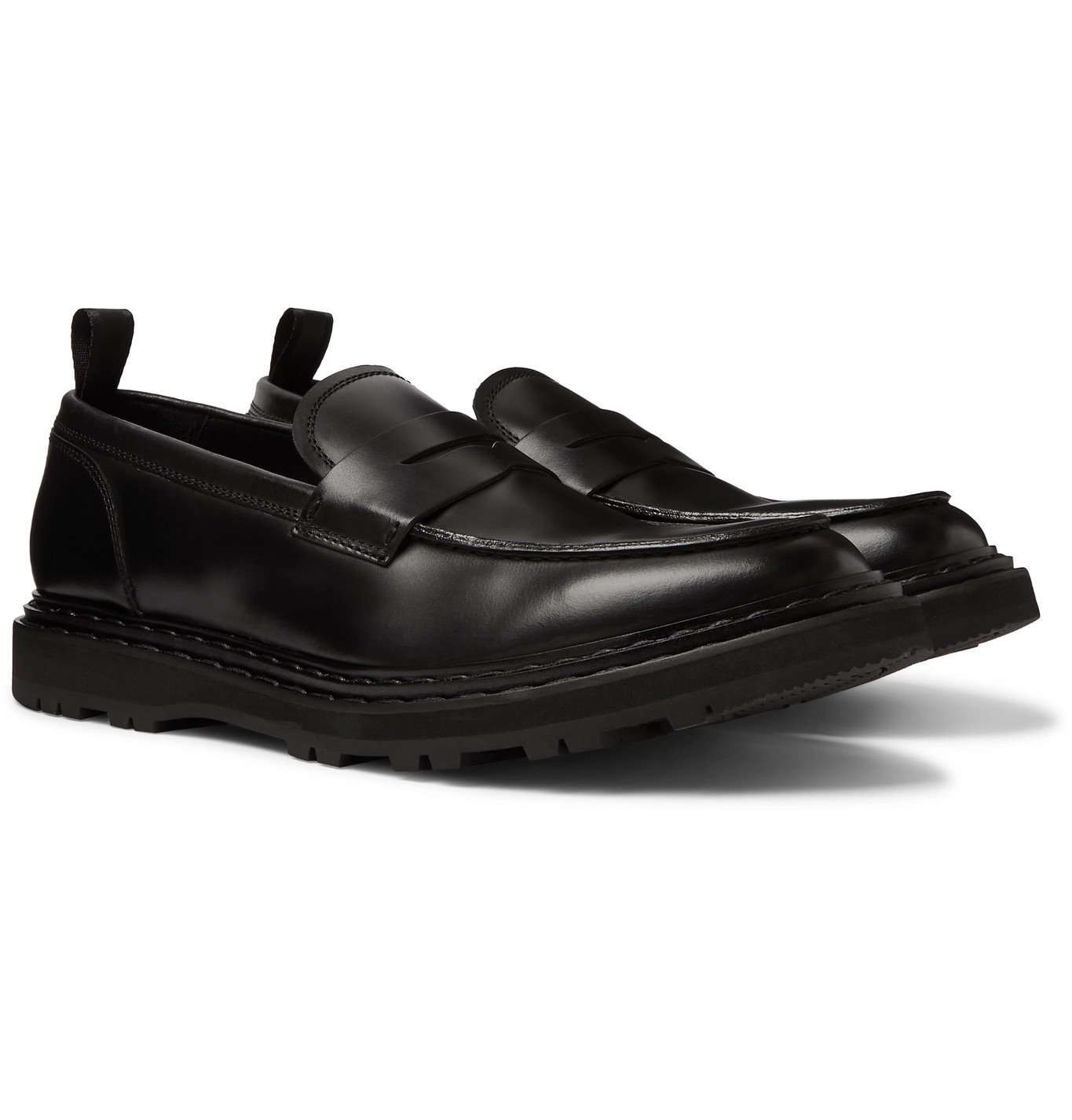 Photo: Officine Creative - Lydon Polished-Leather Penny Loafers - Black