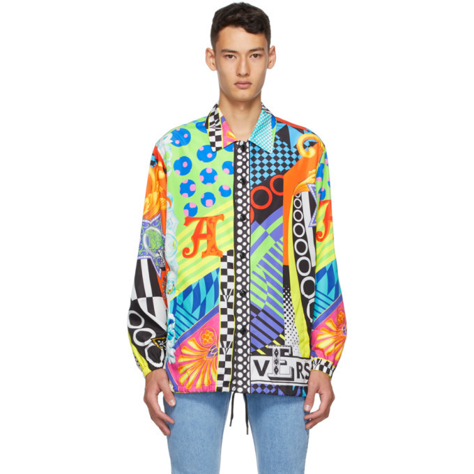 Photo: Versace Multicolor Pop Temple Print Jacket