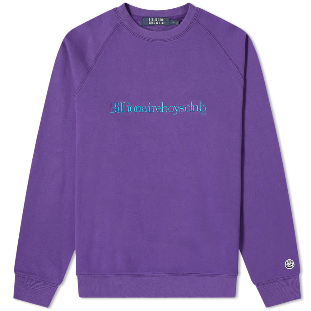Photo: Billionaire Boys Club Embroidered Logo Serif Crew Sweat