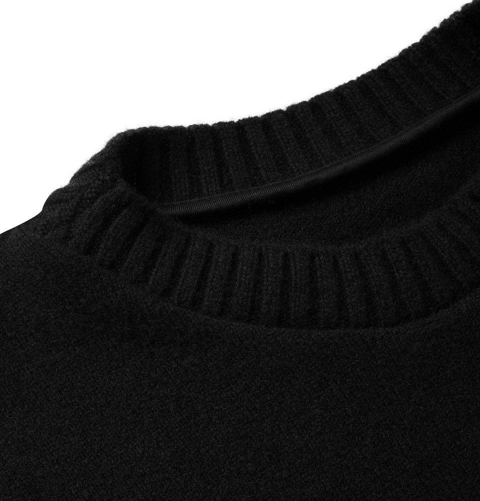The Elder Statesman - Intarsia Cashmere Sweater - Black