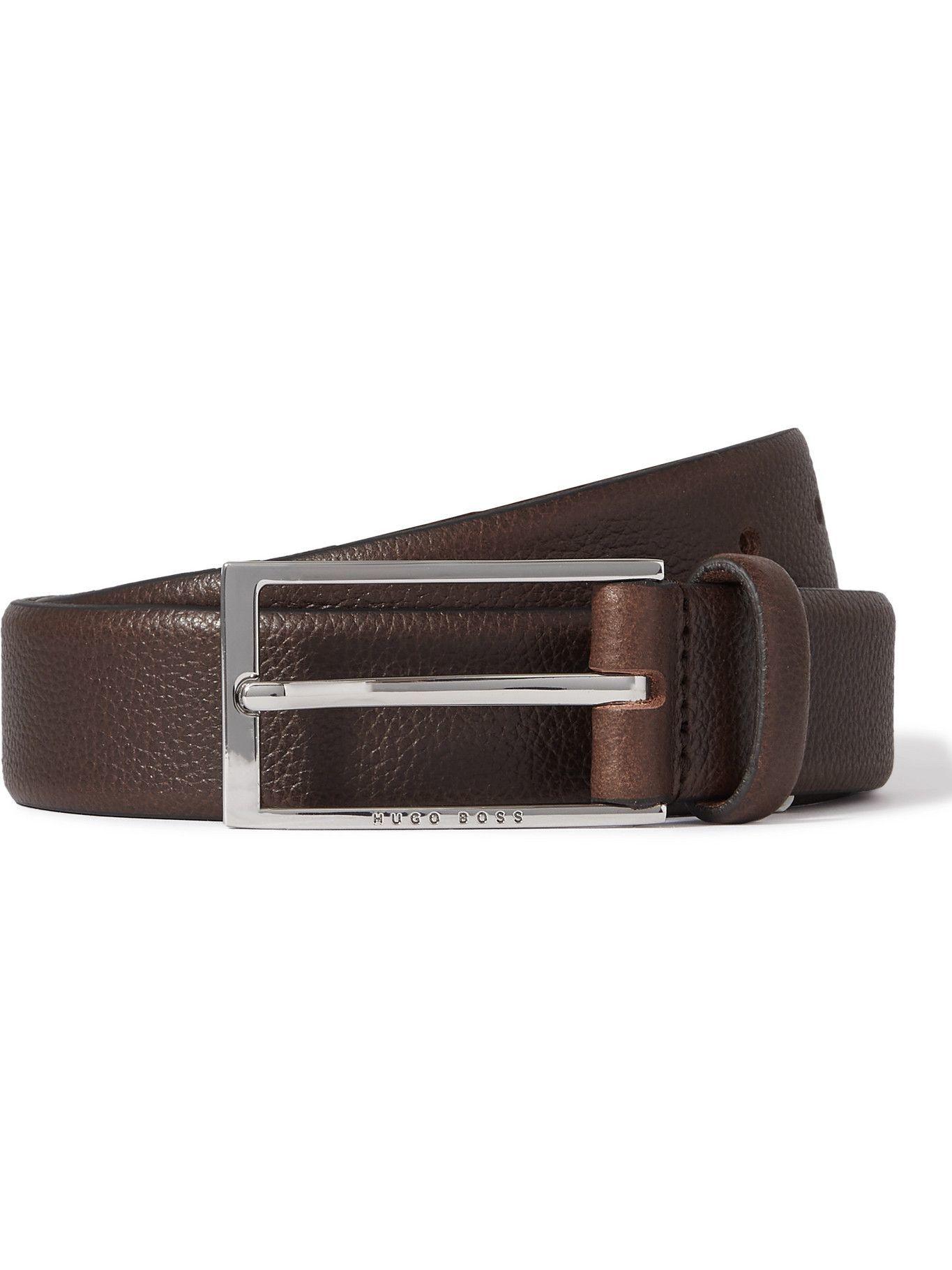 HUGO BOSS - 3cm Full-Grain Leather Belt - Brown