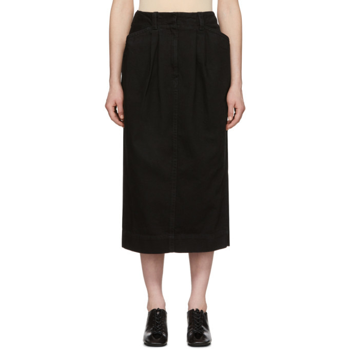 Photo: Lemaire Black Denim Baggy Skirt