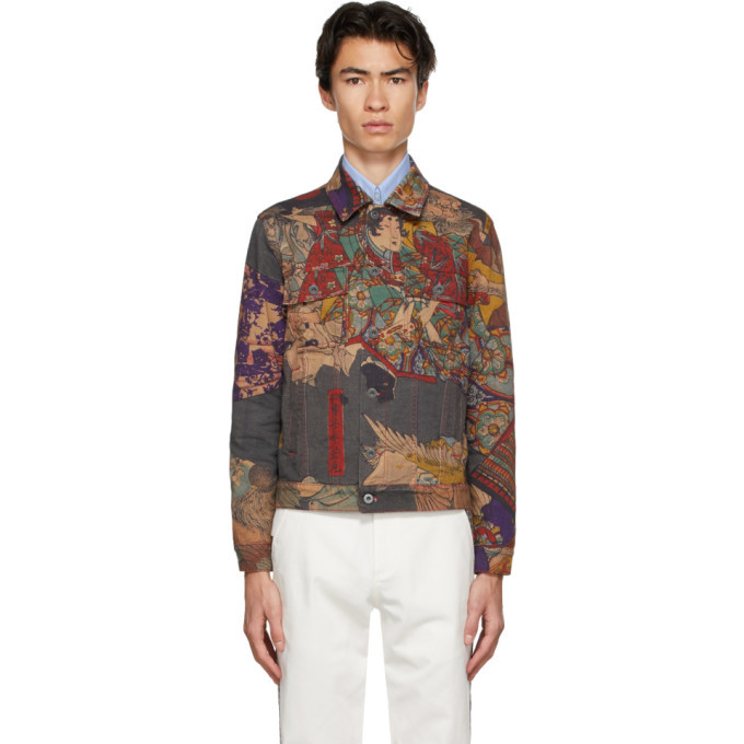 Photo: Rassvet Multicolor Pushkin Museum Denim Tsukioka Yoshitosi Jacket