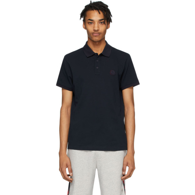 Photo: Moncler Navy Pique Polo