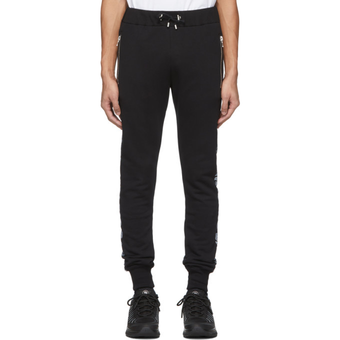 Photo: Balmain Black Cotton Logo Lounge Pants