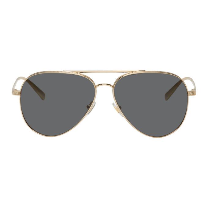 Versace Gold Greca Aviator Sunglasses