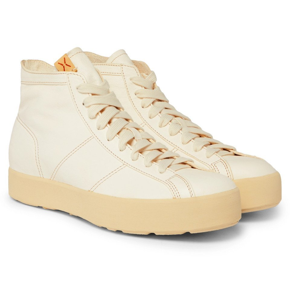 Photo: visvim - Foley Folk Leather High-Top Sneakers - Neutral