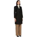 Max Mara Black Wool Patrik Long Coat