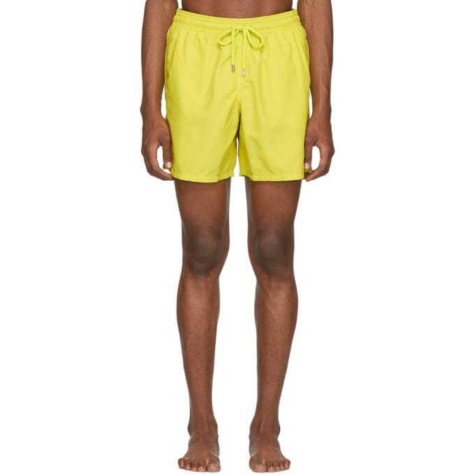 Photo: Vilebrequin Yellow Solid Moorea Swim Shorts