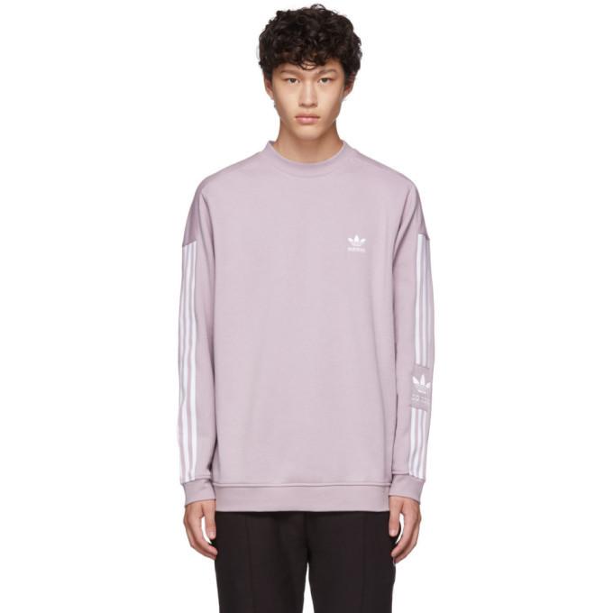 Photo: adidas Originals Purple Lock Up Crew Sweatshirt