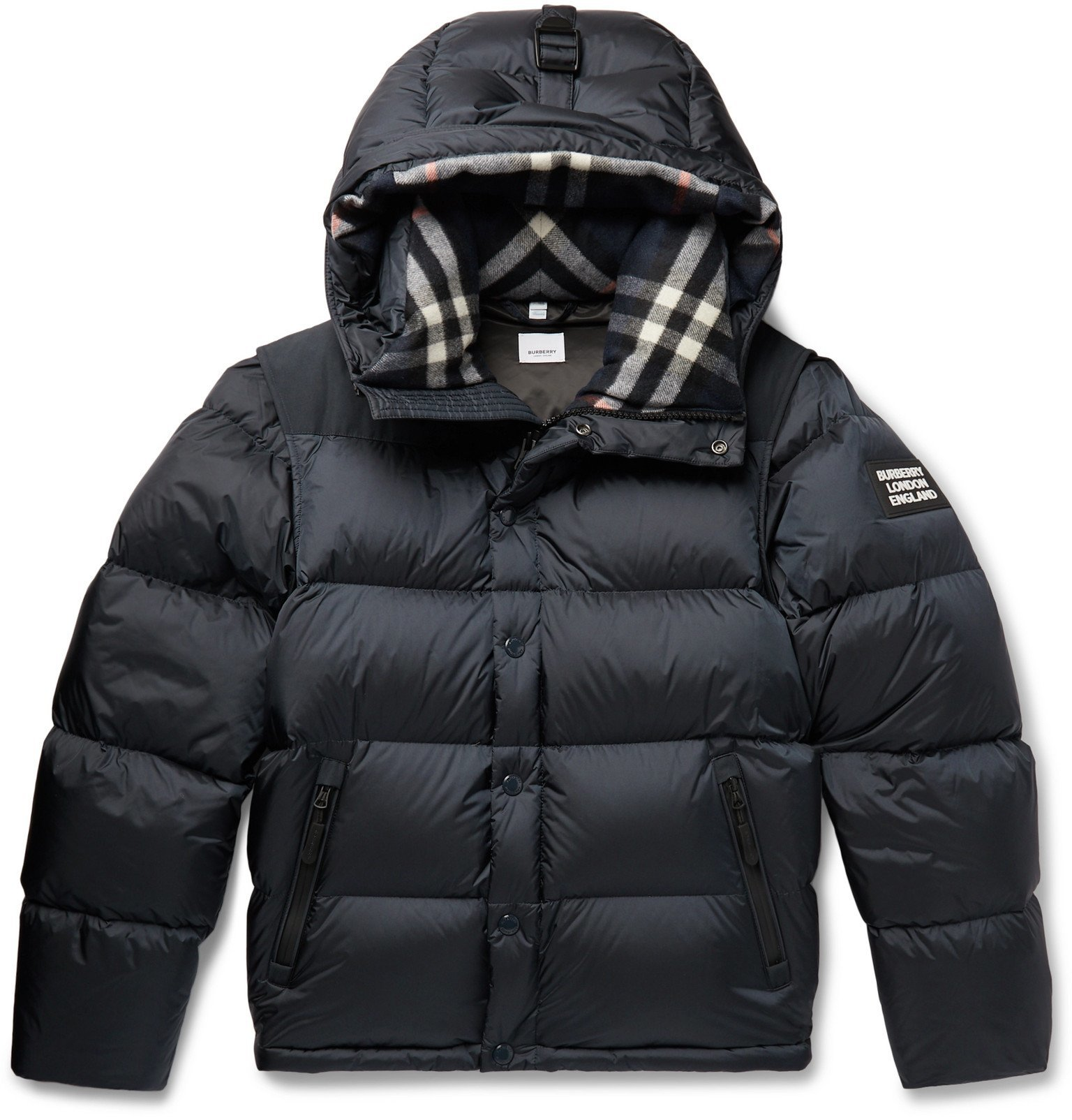 Photo: Burberry - Quilted Nylon Jacket - Blue