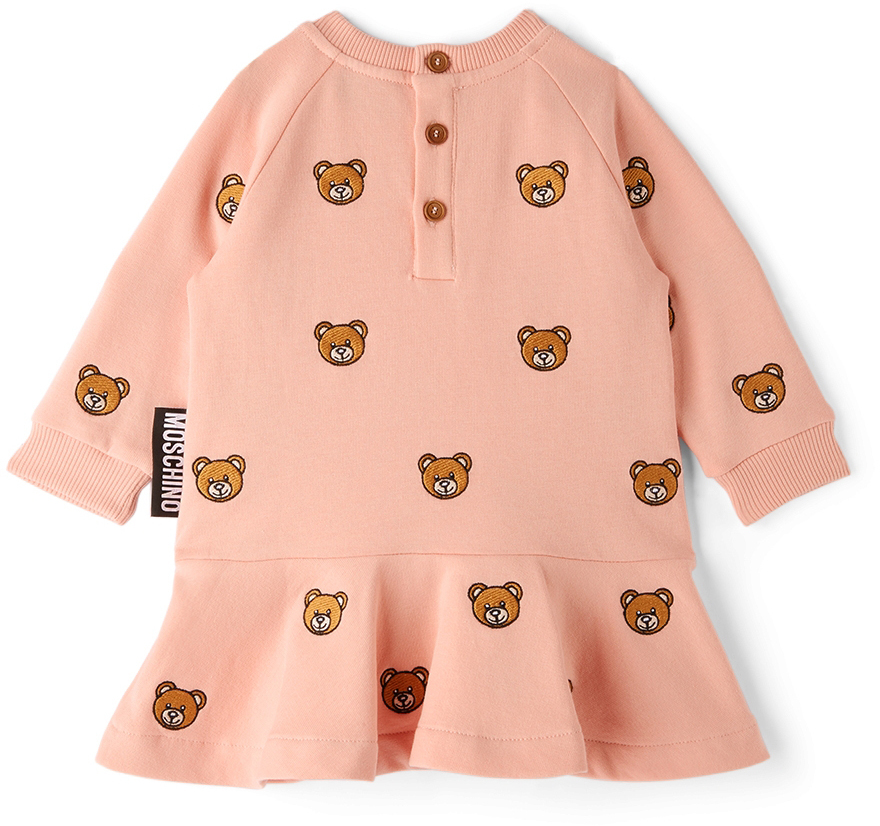 Photo: Moschino Baby Pink Fleece Teddy Bear Dress