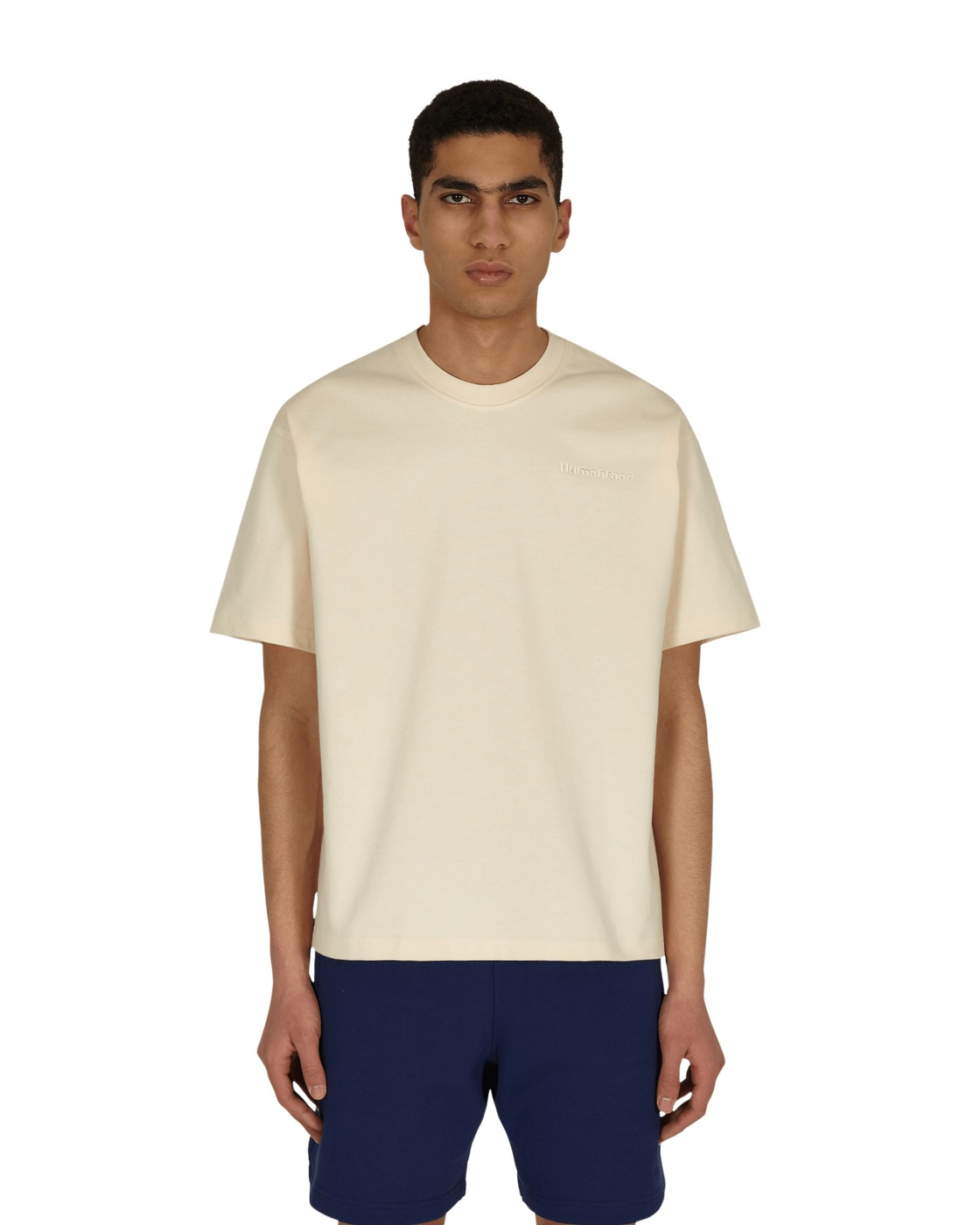 Photo: Adidas Originals Pharrell Williams Basics T Shirt Ecru Tint