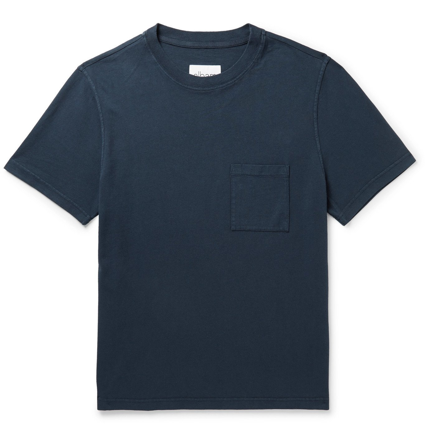 Photo: Albam - Workwear Cotton-Jersey T-Shirt - Blue