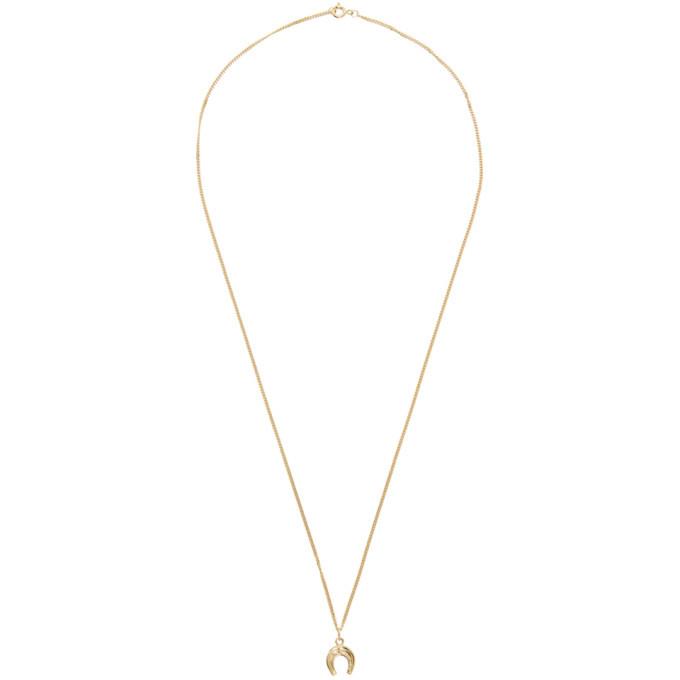 Photo: Ernest W. Baker Gold Horseshoe Pendant Necklace