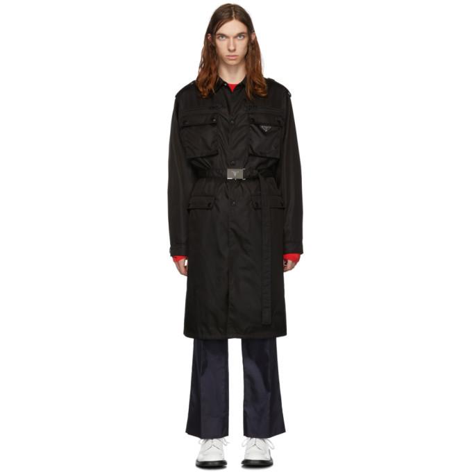 Photo: Prada Black Nylon Gabardine Coat