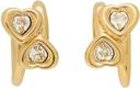 Jiwinaia Gold & White Heart Earrings
