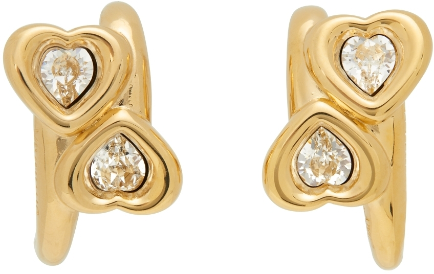 Photo: Jiwinaia Gold & White Heart Earrings