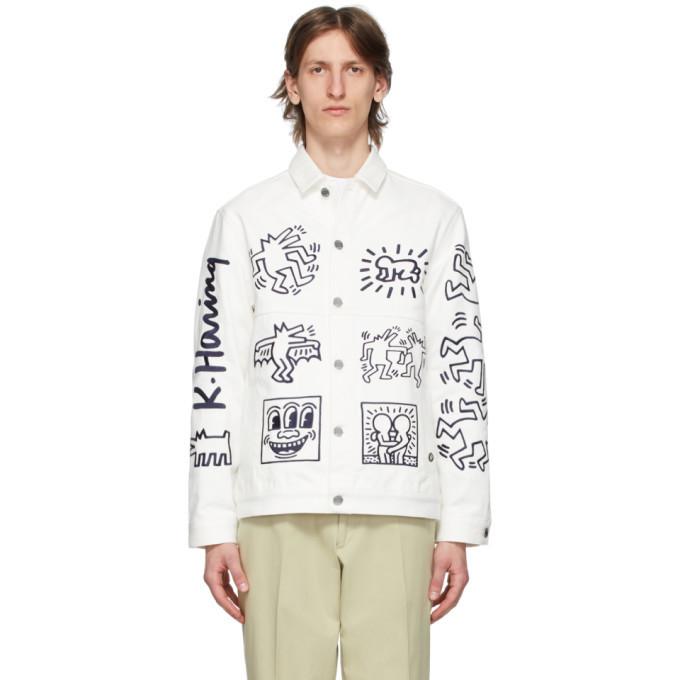 Photo: Etudes White Keith Haring Edition Denim Guest Jacket