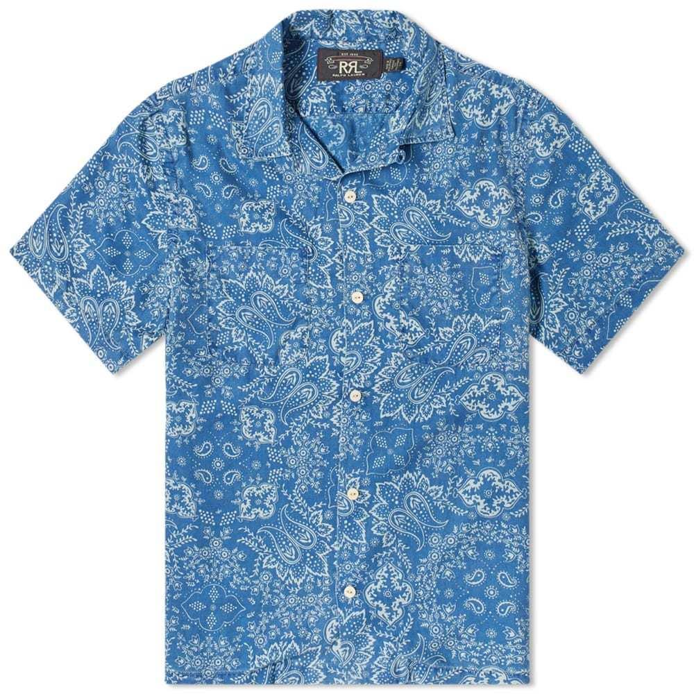 RRL Paisley Indigo Printed Vacation Shirt