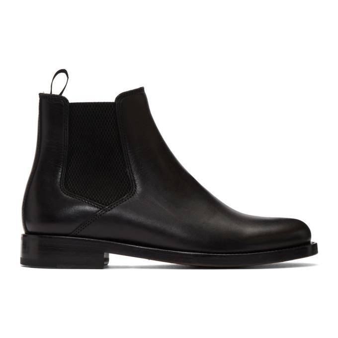 Photo: A.P.C. Black Stanislas Chelsea Boots