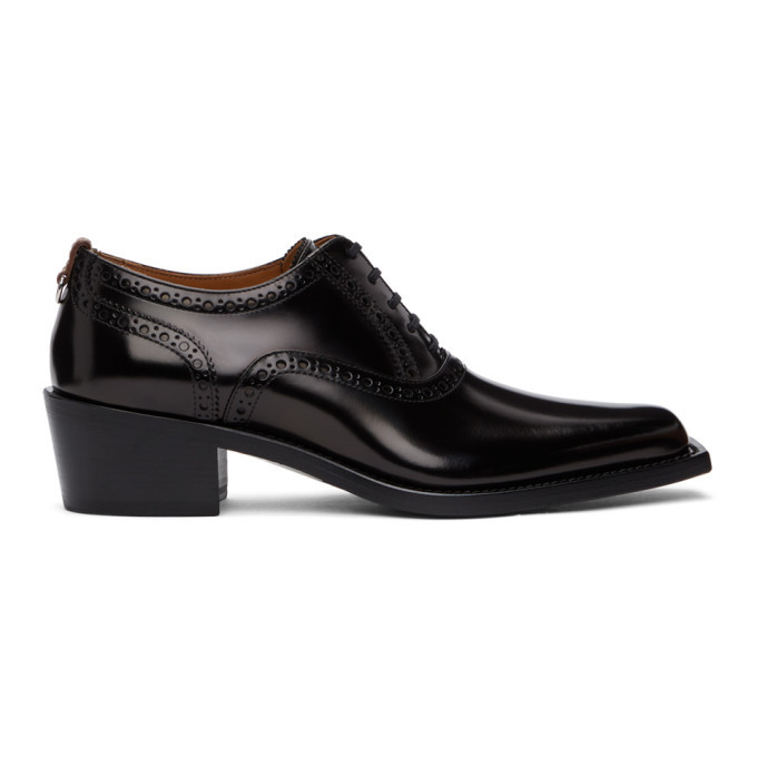 Photo: Burberry Black D-Ring Heeled Brogues