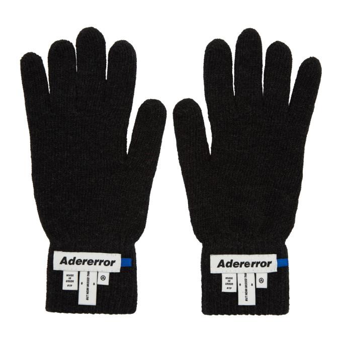 Photo: ADER error Black Wrist Label Play Gloves