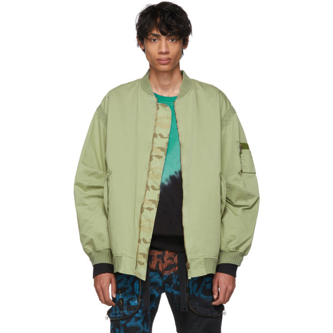 Photo: Faith Connexion Reversible Green Camo RVS Bomber Jacket