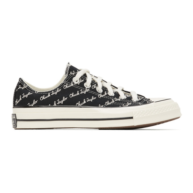 Photo: Converse Black and White Signature Chuck 70 Low Sneakers