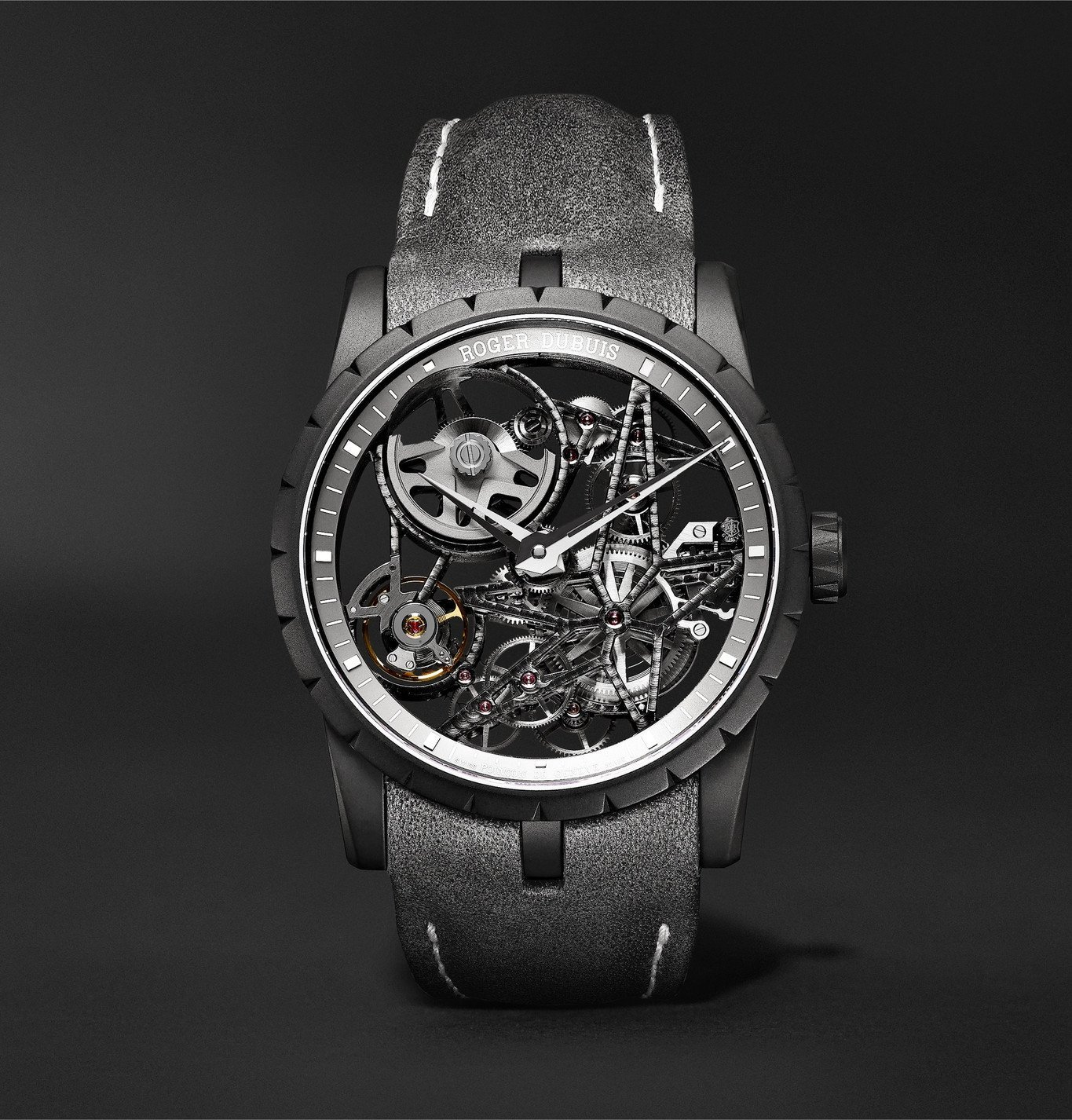 Photo: Roger Dubuis - Excalibur Automatic Skeleton 42mm Titanium and Leather Watch, Ref. No. DBEX0726 - Unknown