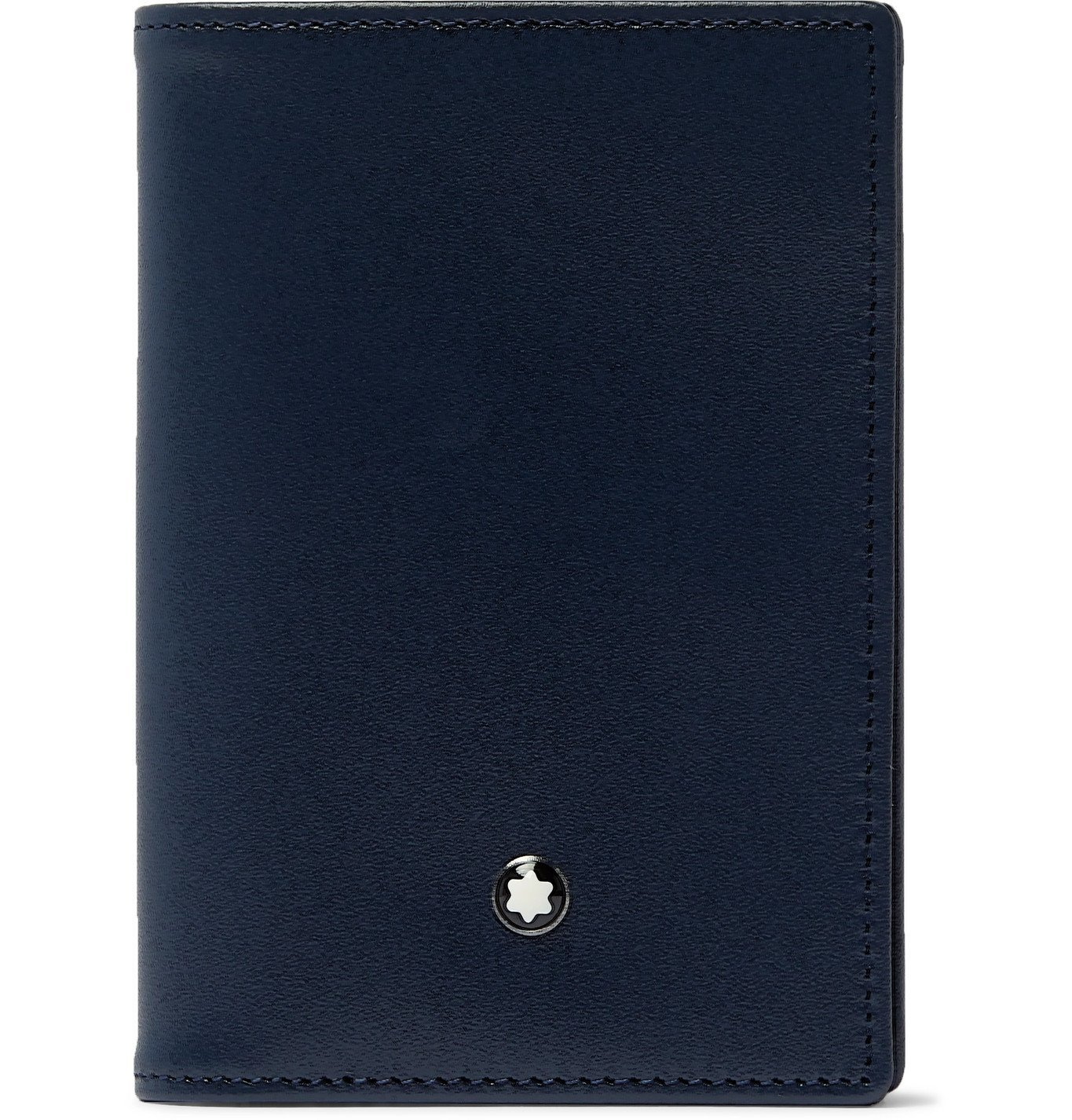 Photo: Montblanc - Logo-Appliquéd Leather Cardholder - Blue