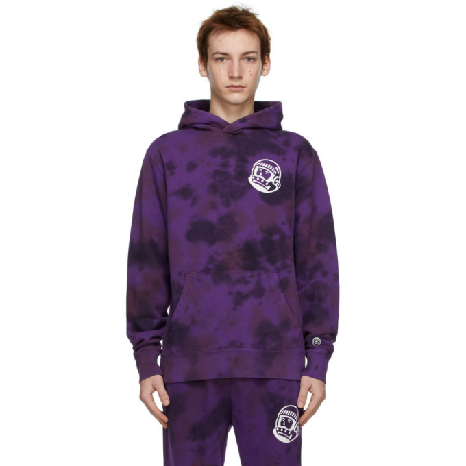 Photo: Billionaire Boys Club Purple Tie-Dye Popover Hoodie