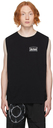 Aries Black Low Armhole Muscle Sleeveless T-Shirt