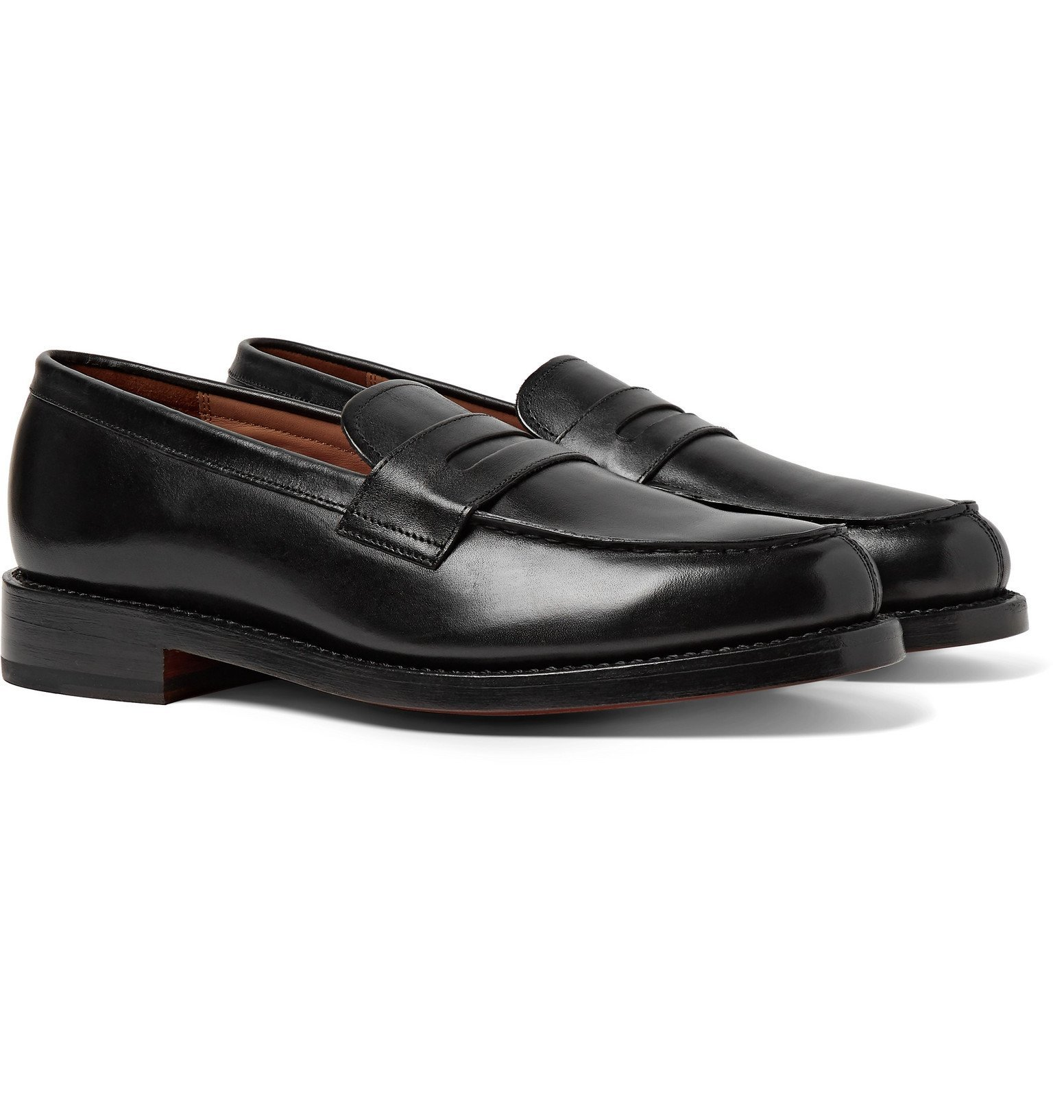Photo: Grenson - Peter Leather Penny Loafers - Black