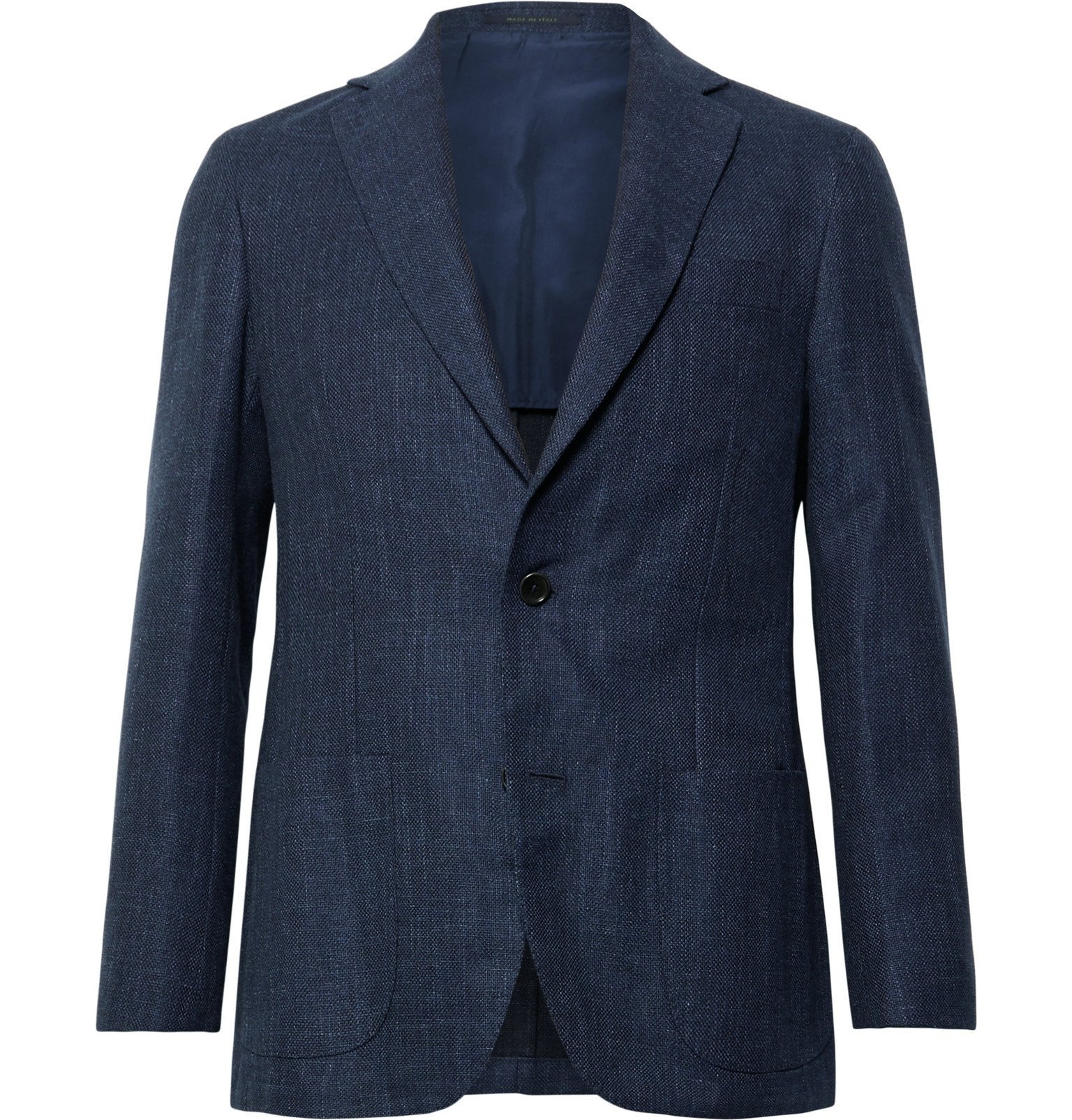 Photo: Sid Mashburn - Navy Kincaid No 1 Unstructured Cotton and Wool-Blend Hopsack Blazer - Blue